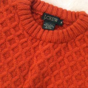 J. Crew VINTAGE wool cableknit sweater orange